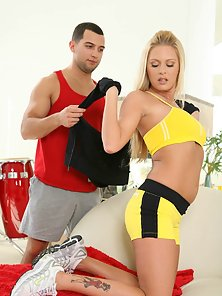 Ankle Up And Doggy Style Hammer Action Hugely Satisfies The Blonde Girl