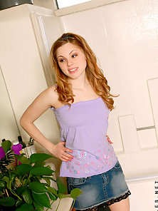 Sexy Alana Posing In Several Styles with Inching Down Her Blue Panty