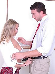 Massive Titted Blonde Cutie Rammed Hard By the Wicked Teacher