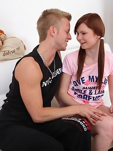 Ribbon Hair Ties Babe Naked and Hammered By Huge Dick