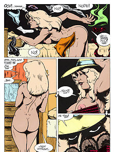 Giant titty cartoon blonde loves dildo and dick