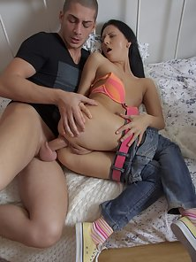 College Babe Teresa and Her Lover Enjoy First Anal Sex