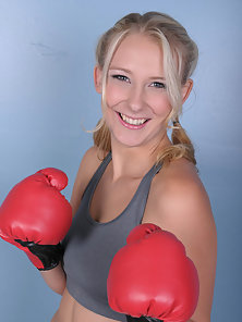 Pigtail Blonde Sporty Diva Pumped Hard On Riding a Large Dick of Her Trainer