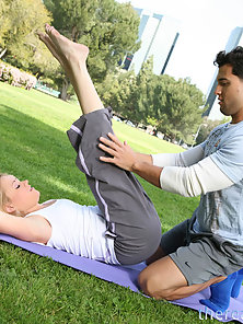 Blonde Teen Sindee Jennings Seduced By the Yoga Trainer