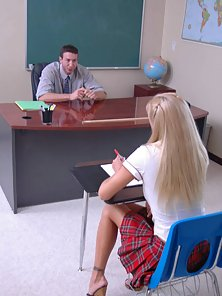 Sweet Sexy School Girl Nailed By Her Hunky Teacher in the Class