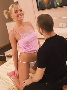 Blonde Beauty Sucking Fucking and Boos Pressing in Various Actions