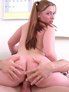The Naughty Teacher Fucking the Long Haired Blonde School Girl in Office Room