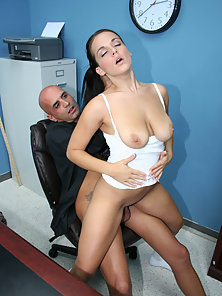 Perfect Boobs Attracted the Pervert Teacher for Fucking Action till Cumshots Badly