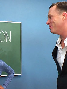 Petite Sexy Mia Lina Fucked By Her Horny Teacher in Class