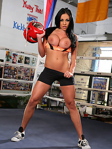 Sexy Karate Kick Girl Audrey Bitoni Shows Her Boobs and Gets Wild Fuck