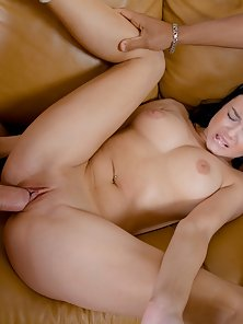 Blue Dressed Amateur Brunette Chick Erica Pussy Cleft and Banged Hard
