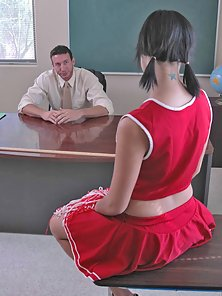 Horny Cheerleader Amazing Sex Action with Her Hunky Teacher