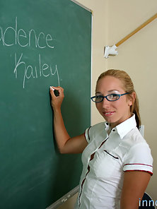 Blonde Kailey Is Pounded Roughly By Her Hunky Teacher Until Sperm Comes Out