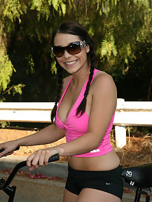 Dark Haired Pigtail Babe Hugely Rammed By Her Partner after Blowjob Action