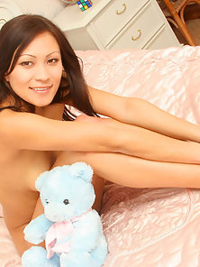 Brunette Chick Tapenga Making Horny Sex with a Teddy