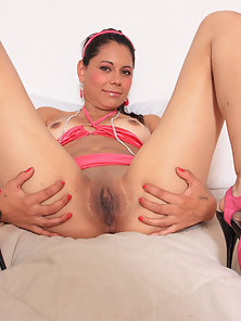Slutty Spanish Teen Love Drilling Her Small Clit by Large Dick