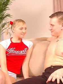 Beautiful Blonde Chick Gets Tempted By the White Guy Hard Prick