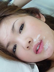 Cute Japanese Chick Provides Blowjob and Gets Huge Facial