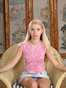 Gorgeous Petite Blonde Teen Showing Her Tight Body in Orgy