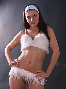 Hot Pics of a Horny Stunning Beauty Brunette Bitch In the Studio