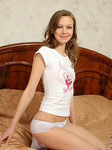 Petite Cute Teen Striping down Her Panty Gives Heart Touching Smile