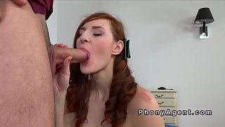 Stunning Brunette Babe Strips and Banged By Hungry Dong