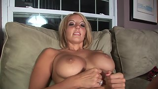 Ravishing Slut with Massive Boobs Spreading Juicy Pink Hole