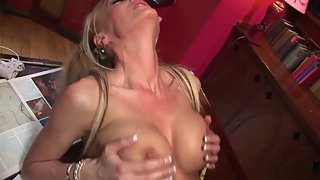 Pigtail Blonde Schoolgirl Swallows Enormous Glossy Schlong