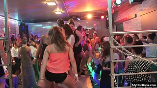 Lusty Party Babes Pounded by Huge Solid Pricks of Muscular Dudes