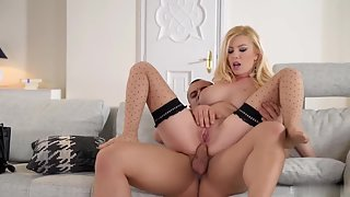 Buxom Blonde Dona Bell Gets Seduced and Railed by Dashing Dude