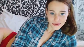 Petite teen is masturbating on webcam