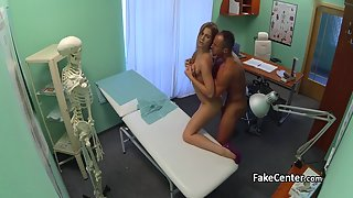 Patient with big cock drills a sexy nurse at hospital
