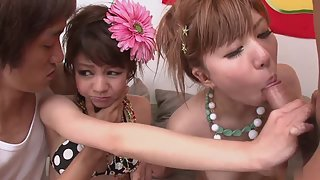 Amateur Japanese babes get penetrated