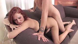 In Style of Doggy Redhead Ameara Banged Hard