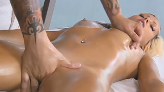 Gorgeous Sexy Lady Gets Boobs Kneaded and Pussy Fingered