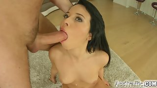 Dark Haired Ashley Pussy Slammed after Lick
