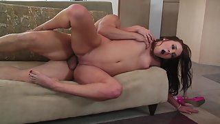 Long Hair Lascivious Slut Blows Pulsating Straight Pecker