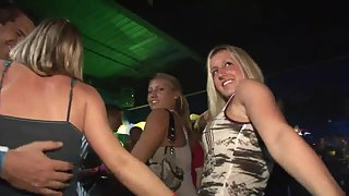 Hottest Lusty Ladies Hugely Dancing in a Big Party