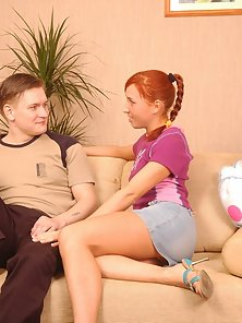 Ponytailed Red Headed Chick Banged Hard By the Cuckold Guy