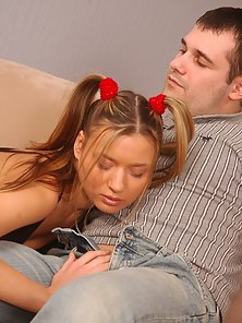 Dick Greedy Pigtailed Coed Handjob and Gets Smashed Hard By Her Partner