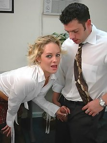 Sweet Babe Riding Hunky Cock of Her Teacher on Chair