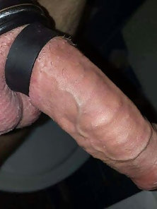 My cock in a cock ring