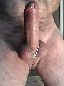 rubber band around my hard cock