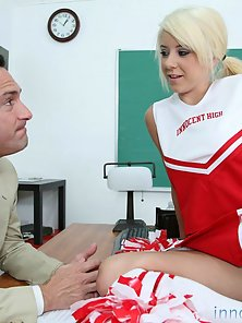 Blonde Babe in the Class Room Fucked Till Facialized