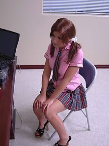 Red Headed Hot School Girl Hugely Hammered By Her Teacher in Class Room