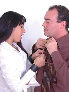 Cute Brunette Babe and Her Naughty Principal Making Hardcore In Office