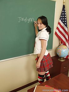 Petite Brunette School Girl Wildly Fucked In the Class Room