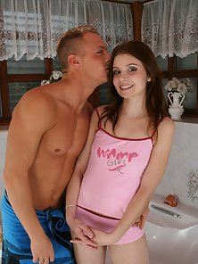 Hot Brunette Chick and Her Naughty Sex Partner Getting Thrilled and Banged