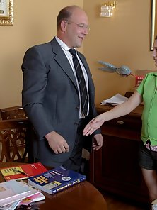 Cute Schoolgirl Gets Different Fuck in Riding and Doggy Action with Her Teacher