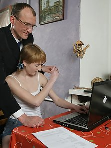 Small Tits Blonde Hugely Pounded By Her Aged Teacher for a Certificate